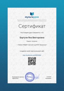 Сертификат Бартули Яна Викторовна (1)